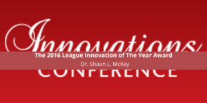 The 2016 League Innovation of The Year Award
